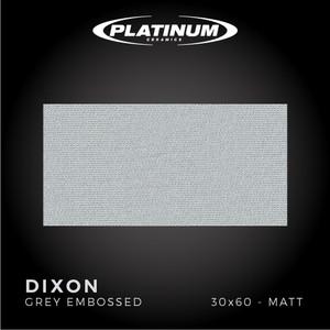 Platinum Ceramics - DIXON GREY EMBOSSED -30x60 - MATT - FREE DELIVERY