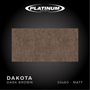 Platinum Ceramics - DAKOTA DARK BROWN - 30x60 - MATT - FREE DELIVERY