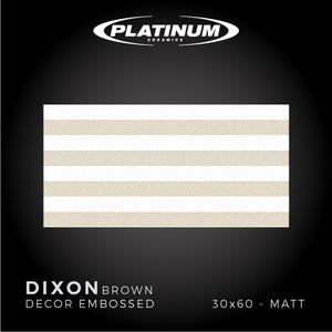 Platinum Ceramics - DIXON BROWN DECOR EMBOSSED -30x60 - MATT - F.D.