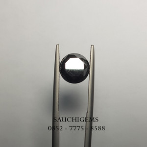 SG-079 NATURAL UNTREATED RARE BLACK DIAMOND 3.89CT + CERTIFICATE