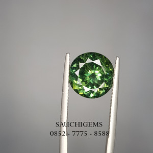 SG-080 TOP PREMIUM BRILLIANCE LUSTER GREEN APATITE + CERTIFICATE
