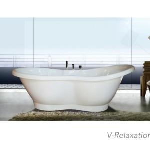 Bathtub Standing Shelina - free avur+kran Mixer dan Shower+Tissue box