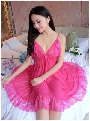 Sexy Lingerie Elegan Baju Tidur Pakaian Dalam Seksi 71889117 Hotpink