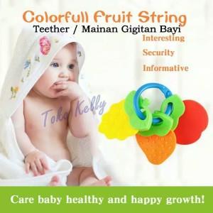 Mainan Gigitan Bayi - teether bayi bentuk buah impor