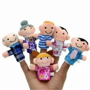Boneka Jari isi 6 pcs Finger Puppet seri keluarga family import