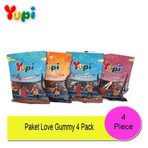 Paket Yupi Love Gummy 4 Pack