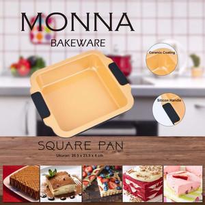 Square Pan loyang petak loyang kue loyang anti lengket monna bakeware