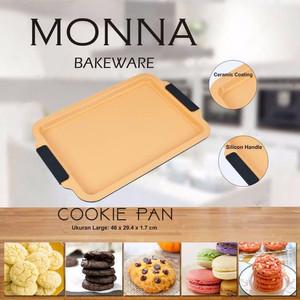Cookie Pan Medium 40x27x1.7cm loyang anti lengket monna bakeware