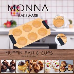 Muffin Pan 6 cups Cupcake Pan loyang cupcake loyang muffin monna bakew