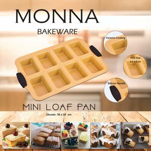 Mini Loaf Pan 8 Holes Mini Ogura Pan Monna Bakeware