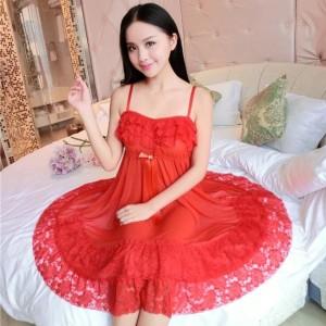 Sexy Lingerie Pakaian Dalam Seserahan Baju Tidur Murah 71804102 Red