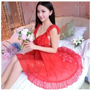 Sexy Lingerie Pakaian Dalam Seserahan Baju Tidur Murah 71883113 Red