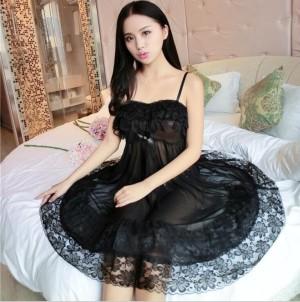 Sexy Lingerie Pakaian Dalam Seserahan Baju Tidur Murah 71804102 Black