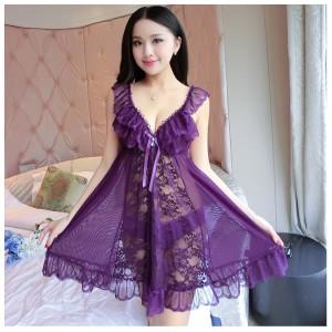 Sexy Lingerie Pakaian Dalam Seserahan Baju Tidur Murah 71883113 Purple