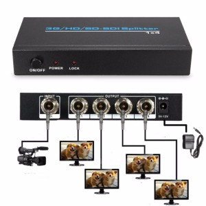 SDI Splitter 1x4 Distribution Extender,SDI HD-SDI 3G-SDI Energy Transfer System