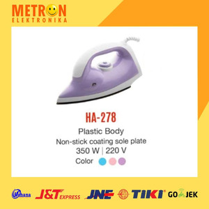 MASPION HA-278 DRY IRON / SETRIKA HA 278 / HA278