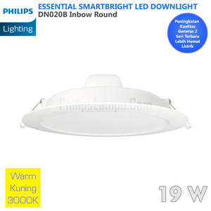 Lampu Downlight LED Philips 20W DN020B 20 W Warm White Kuning