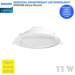 Lampu Downlight LED Philips 12W DN020B 12 W Warm White Kuning