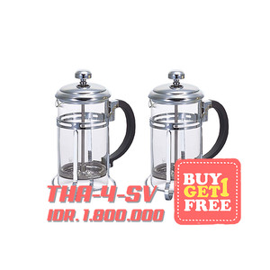 """Hario Tea And Coffee Press """"Harior Aulait"""" for 4 cups THA-4SV 2 pcs"""