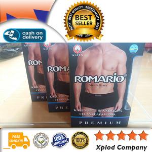 Celana Dalam Pria Model Boxer Bahan Katun Kualitas Premium Romario