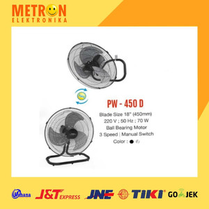 "MASPION PW-450 D POWER FAN 18"" / KIPAS ANGIN 2 IN 1 PW 450 D / PW450D"