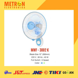 "MASPION MWF-3002 K WALL FAN 12"" / KIPAS ANGIN MWF 3002 K / MWF3002K"