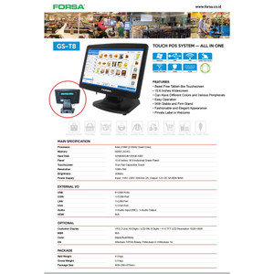 FORSA Touch POS system GS-T8