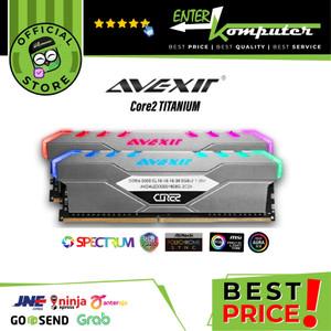 Avexir DDR4 Core2 Titanium RGB LED PC24000 16GB (2X8GB)