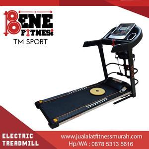 Treadmill Elektrik TM SPORT 4 FUNGSI Alat Olahraga Fitnes Lari Fitness