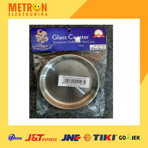 BIMA GLASS COASTER 9CM / 2PCS INOX PREMIUM