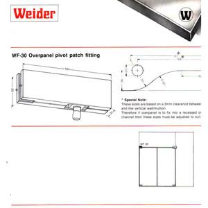 Penjepit Pintu Kaca Glass Door Weider Overpanel Pivot Patch Fitting
