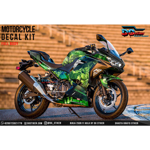 Decal Sticker All New Ninja 250R FI Hitam Hulk DG Stiker