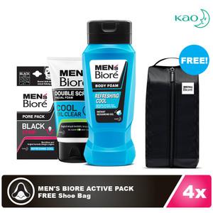 Men's Biore Refreshing Pack FREE Shoe Bag