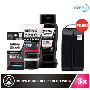 Men's Biore Deep Fresh Pack FREE Shoe Bag