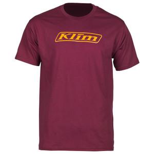 Klim Word T-Shirt Burgundy Size L