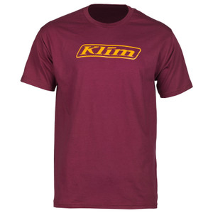 Klim Word T-Shirt Burgundy Size M