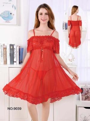 Lingerie Elegan Pakaian Dalam Sleepwear 71939110 Red