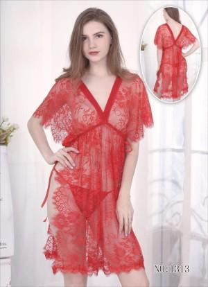 Lingerie Elegan Pakaian Dalam Sleepwear 7194295 Red