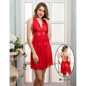 Lingerie Elegan Pakaian Dalam Sleepwear 7194399 Red