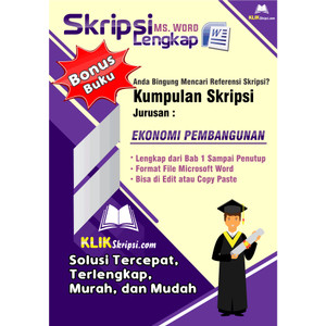 Jual Skripsi Ekonomi Pembangunan Plus Link Download Kab