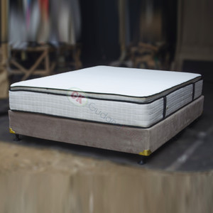 Divan dipan Bludru suede dengan springbed pillowtop 160x200