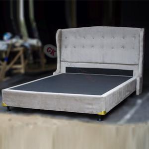 Divan dan Headboard ukuran 180x200 kain suede ( SB96)