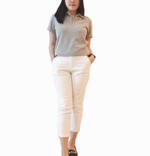 Kaos Polo Wanita Grey Tanpa Merk Pakaian Branded Murah Original Murah