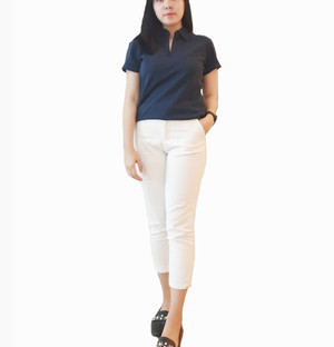 Kaos Polo Wanita Navy Tanpa Merk Pakaian Branded Murah Original Murah