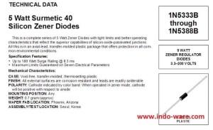 DIODE ZENER 1N5350 5W 13V