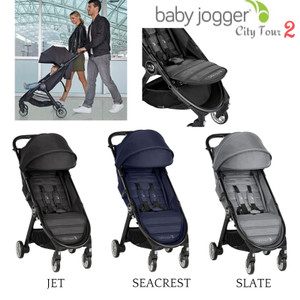 Baby Jogger City Tour 2 Lightweight Travel Stroller FREE Belly Bar 2019 Seacrest