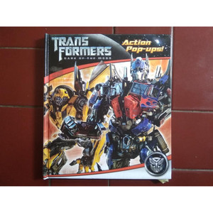 Buku Anak (ACTION POP-UPS) TRANSFORMERS DARK OF THE MOON