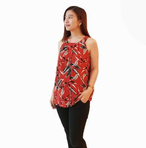 Anko Tanktop Maroon Pakaian Wanita Branded Original Murah