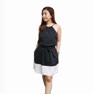 Express Dress Black White Pakaian Wanita Branded Original Murah