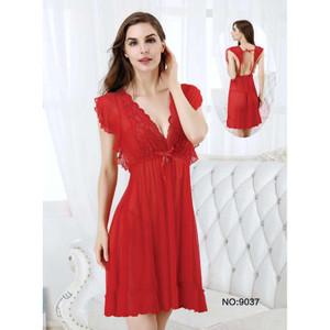 Lingerie Elegan Pakaian Dalam Sleepwear 7195091 Red